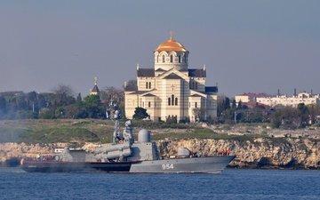 храм, севастополь, рка, ивановец, ракетный корабль, херсонес, владимирский собор