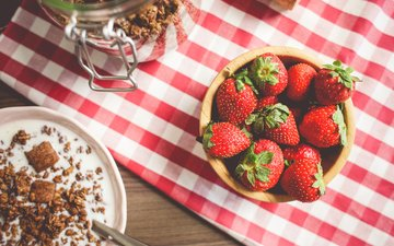 красная, клубника, ягоды