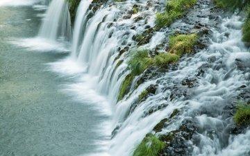 природа, водопад, на природе, штат орегон, бьютт фолс