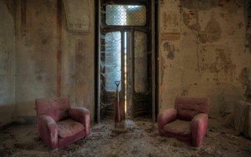 фон, комната, кресла