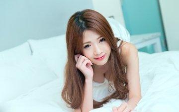 девушка, настроение, взгляд, азиатка, азиат, ориентал