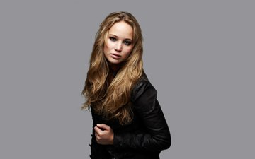 background, look, actress, makeup, hairstyle, jacket, photoshoot, brown hair, jennifer lawrence, matt holyoak