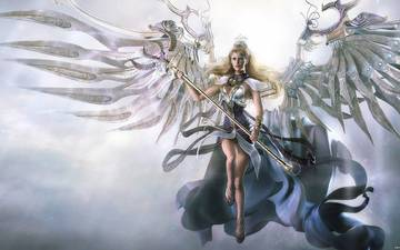 фантастика, девушки, ангел
