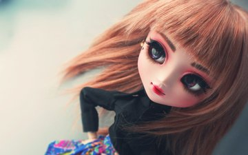 doll, face, bangs, big eyes