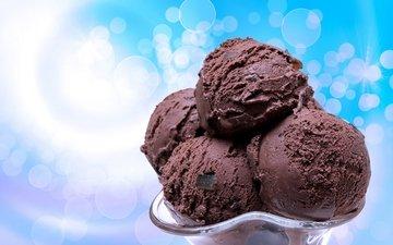 мороженое, сладости, шарики, шоколад, сладкое, мороженное, десерт, в шоколаде