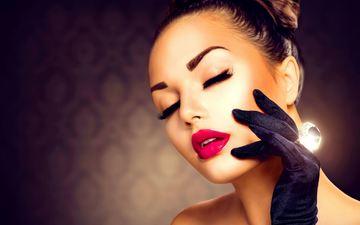 девушка, модель, кольцо, лицо, макияж, украшение, анна субботина