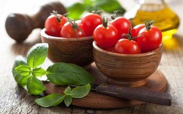 зелень, масло, овощи, помидоры, помидорами