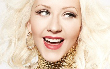 girl, blonde, face, singer, makeup, celebrity, christina aguilera