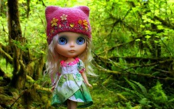 forest, toy, doll, hair, hat, cap