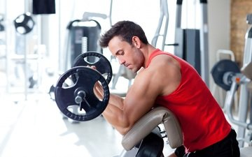 мужчина, мускулы, мышцы, бодибилдер, тренировки, тренажерный зал, strength, бицепс