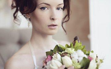 цветы, девушка, взгляд, букет, секси, красивая, личико, galina tcivina, phographer, у окна, оля