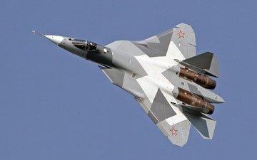 полет, истребитель, мощь, военная техника, т 50, истребитель 5 го поколения