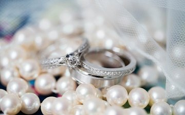 macro, tape, ring, wedding, pearl, engagement