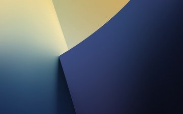 yellow, abstraction, blue, geometry, colors