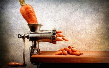 carrots, chopper