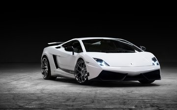background, white, lights, lamborghini, gallardo
