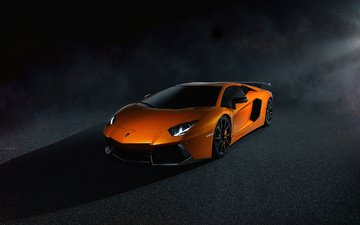 orange, lamborghini, aventador, lp700-4