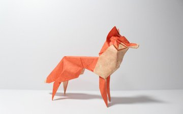 paper, fox, origami