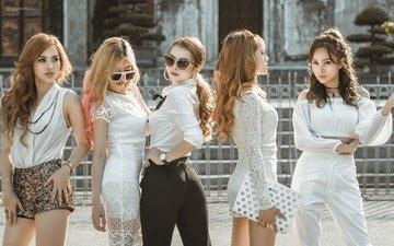 девушки, модели, позируют
