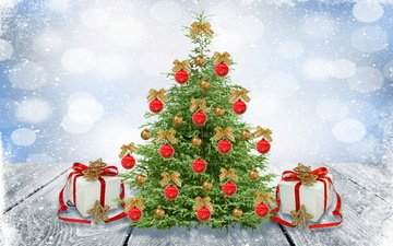 new year, tree, decoration, winter, gifts, toys, christmas tree