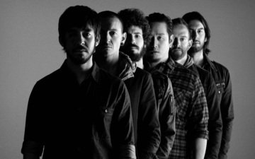 photo, background, black and white, men, rock band, american, linkin park
