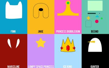 princess, jake, marceline, adventure time, gum, beemo, gunter, princess bubblegum, ice king, lumpy space princess, bmo, finn, gunther