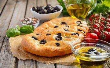 овощи, выпечка, помидоры, оливки, специи, помидорами, baking