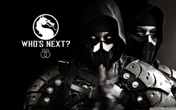 eyes, mask, smoke, mortal kombat, character, mortal kombat x