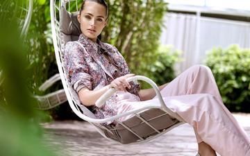 девушка, модель, girl, model, chair, sitting, marinet matthee