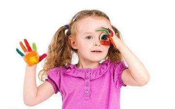 краски, девочка, ребенок, руки, маленькая, дитя, little girls, paints