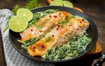 лайм, рыба, lime, fish, запеченная, seafood