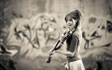 girl, violin, music, lindsey stirling