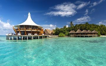 пальмы, океан, экзотика, отель, мальдивы, fantastic maldives