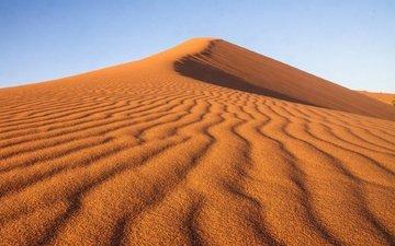 небо, природа, пейзаж, песок, пустыня, жёлтая, дюны, неба, ландшафт, песка, на природе, десерд, дюна
