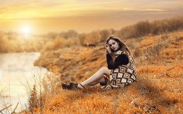 закат, девушка, красавица, модель, gевочка, lovely, легкие, natiral, модел, алессандро ди чикко