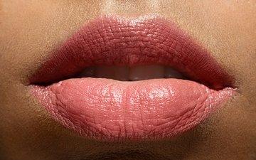 девушка, губы, лицо, женщина, грим