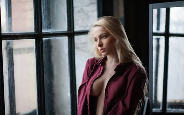 blonde, chest, photographer, hairstyle, shirt, nude, is, sexy, window, maxim maximov