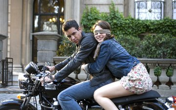 girl, guy, love, motorcycle, hugs, mario casas, maria valverde, three meters above the sky