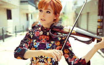 girl, redhead, violinist, lindsey stirling, lindsay stirling