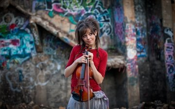 girl, violin, lindsey stirling, lindsay stirling