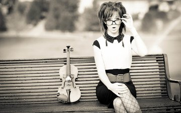 girl, violin, glasses, lindsey stirling, lindsay stirling