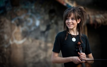 girl, smile, violinist, lindsey stirling, lindsay stirling
