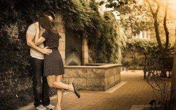 девушка, ситуация, парень, любовь, пара, поцелуй, couple, влюбленная, воздушны поцелуй