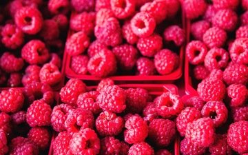 raspberry, berries, a lot