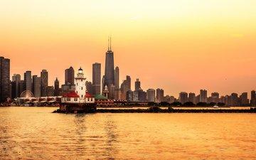 города, небоскребы, мегаполис, сша, чикаго, иллиноис, сhicago