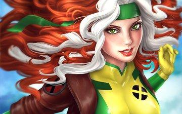 flight, look, costume, green eyes, marvel comics, rogue, rascal