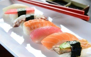 рыба, суши, роллы, японская кухня
