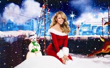 snow, new year, dress, snowman, maiden, mariah carey
