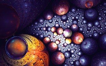 арт, галактика, фрактал