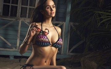 пляж, бокалы, женщина, песка, gевочка, ветряная, сексапильная, katya surina